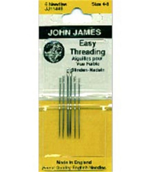 John James Easy Threading Hand Needles-Size 4/8 6/Pkg