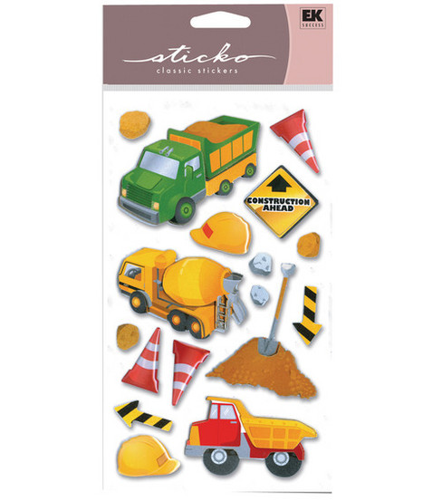 EK Success Sticko Layered Stickers-Construction