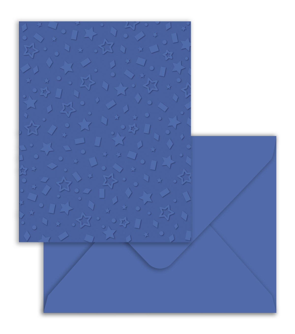 Park Lane A2 Embossed Cards & Envelopes-Blue