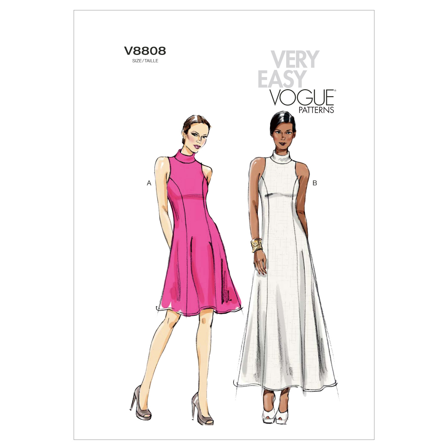 Vogue Patterns Misses Dress-V8808