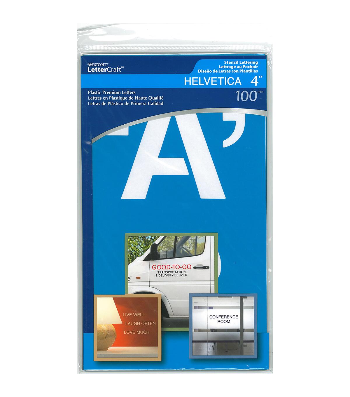 Alphabet Stencil 4 Helvetica Capital Letters Joann