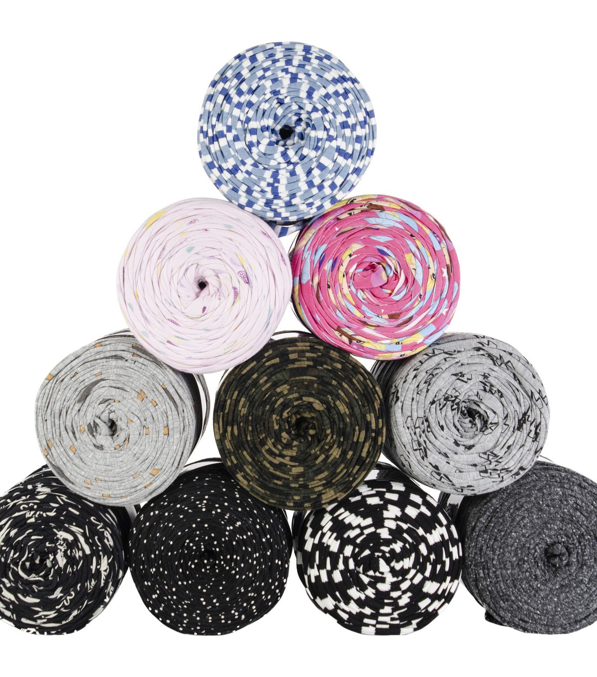 Hoooked Zpagetti Yarn Set 10/Skeins-Printmix