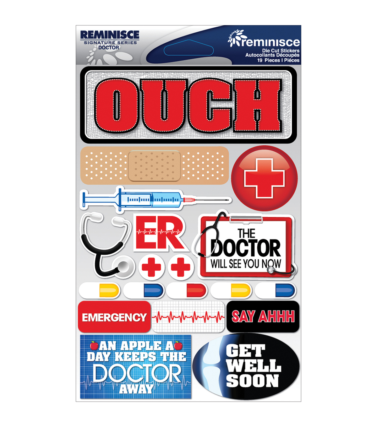 Reminisce Signature Dimensional Stickers Doctor