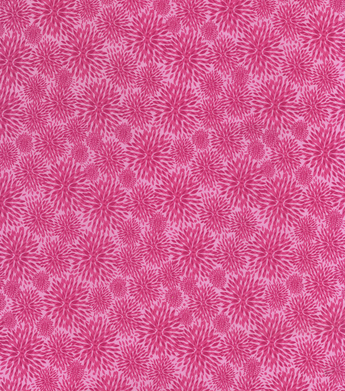 Hi Fashion Premium Quilt Fabric 44\u0022-Pink Mum Burst