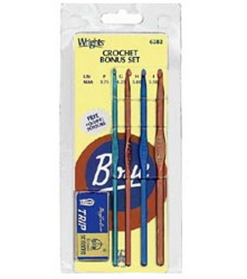 Boye Aluminum Crochet Hook Set with Bonus Scissors