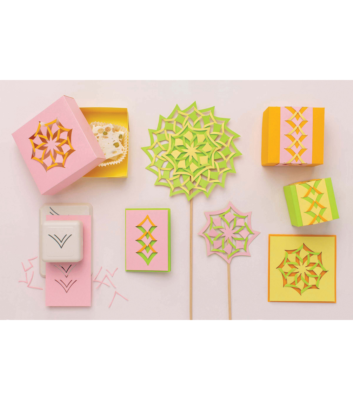 Learn to use the Martha Stewart crafts Cut and Fold punch to create ...