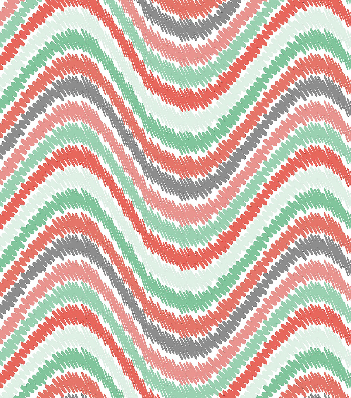 Fabric-Central Cotton Fabric-Eviu Multi Wavy Stripe