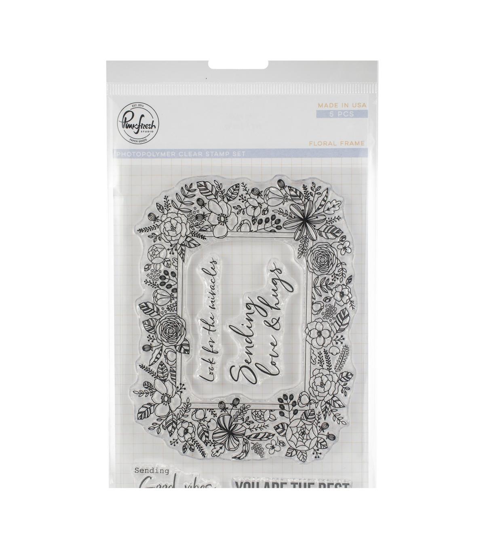 PFS Floral Frame Stamp