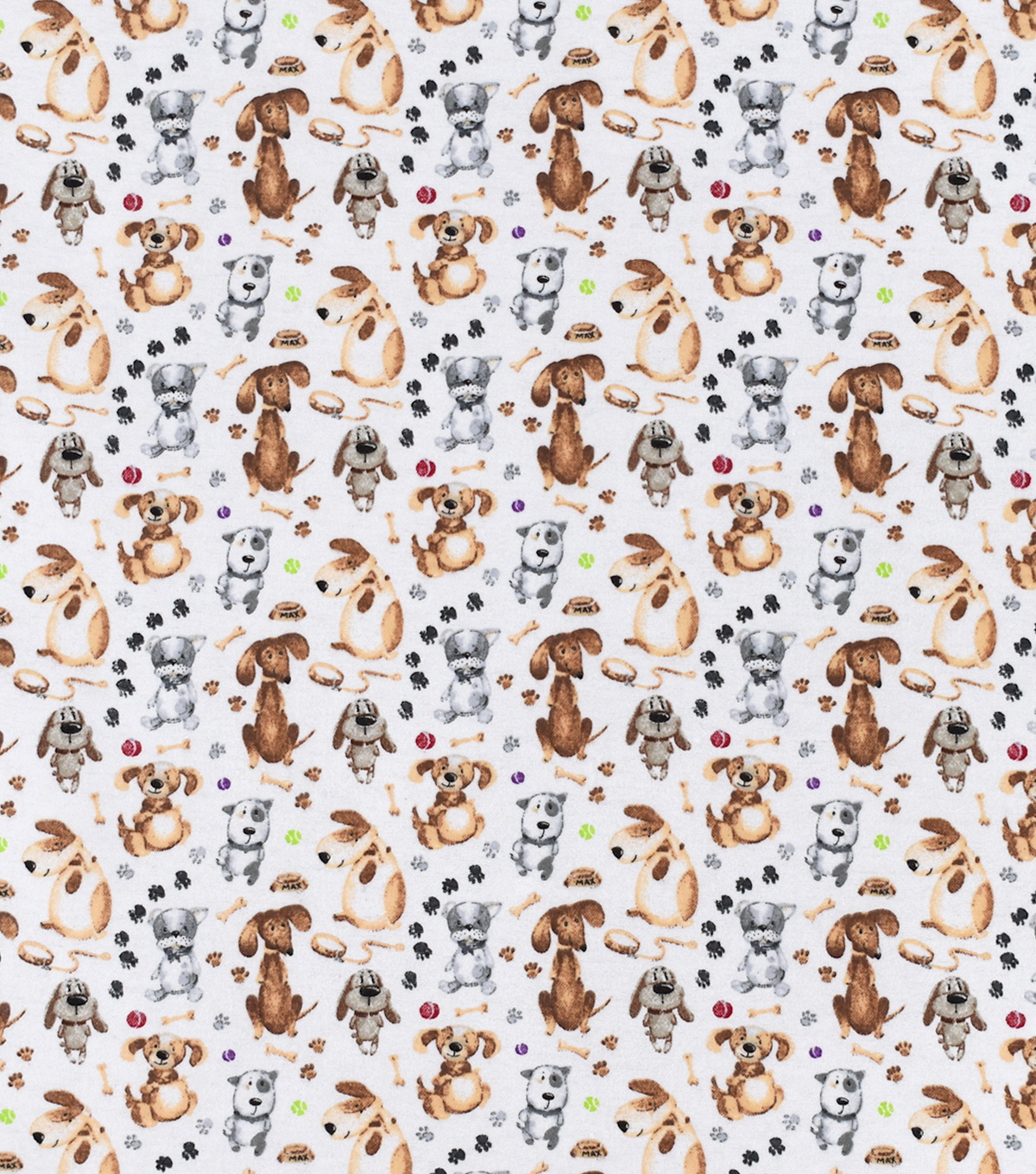 Snuggle Flannel Fabric-Chubby Pups & Max