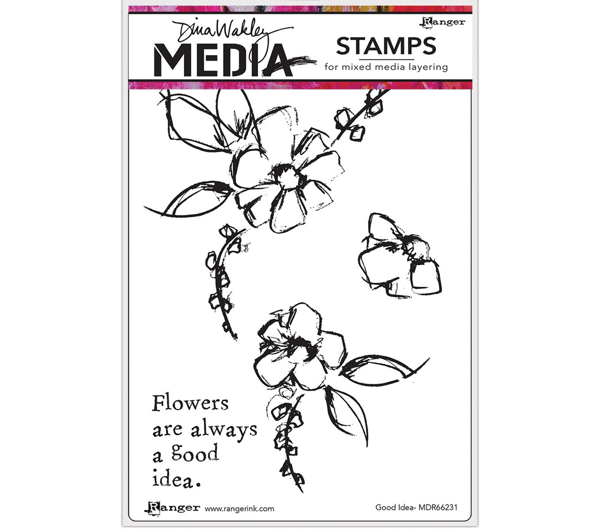 Dina Wakley Media Cling Stamps 6\u0027\u0027X9\u0027\u0027-Good Idea