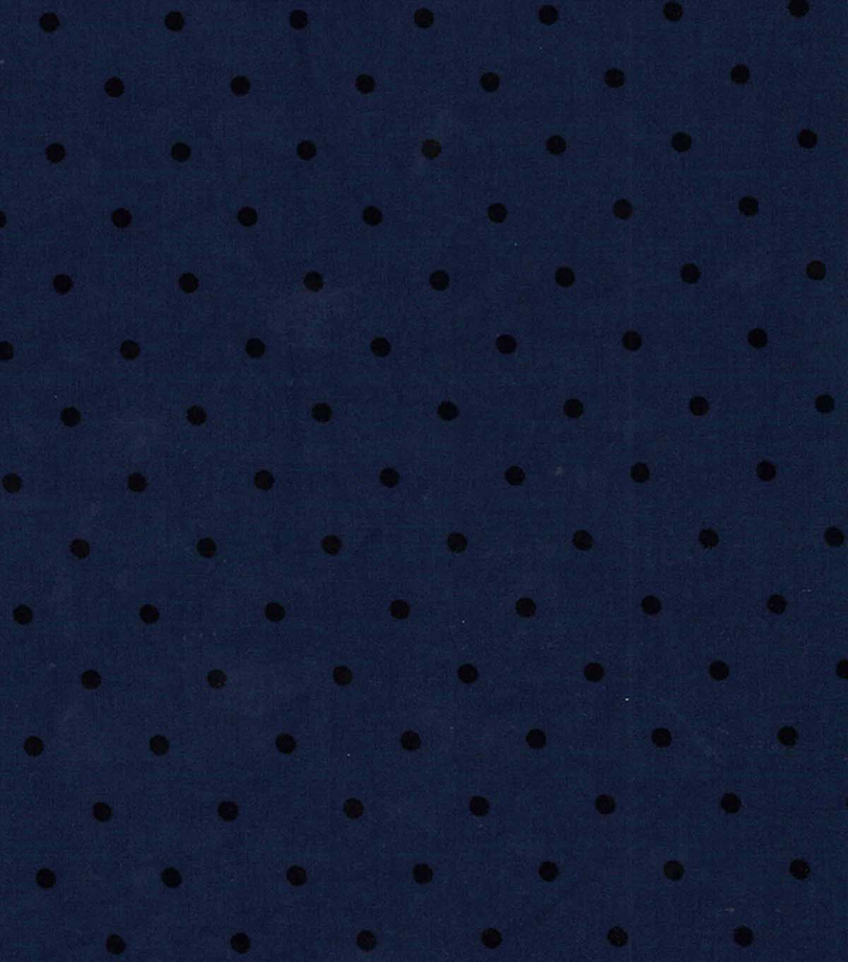 Doodles Collection Fabric -  Majestic Flock Dot Ponte Knit Blue