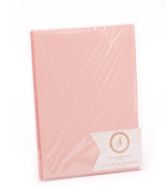 Ms. Sparkle & Co. 4 pk A7 Cards & Envelopes-Light Pink | JOANN