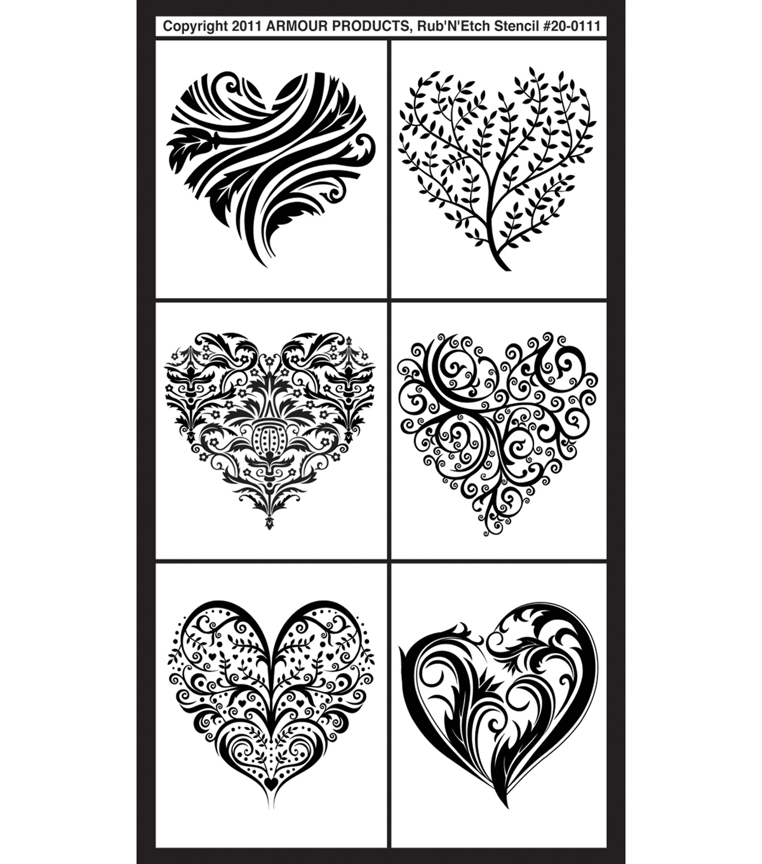 fancy heart stencils - Yolar.cinetonic.co
