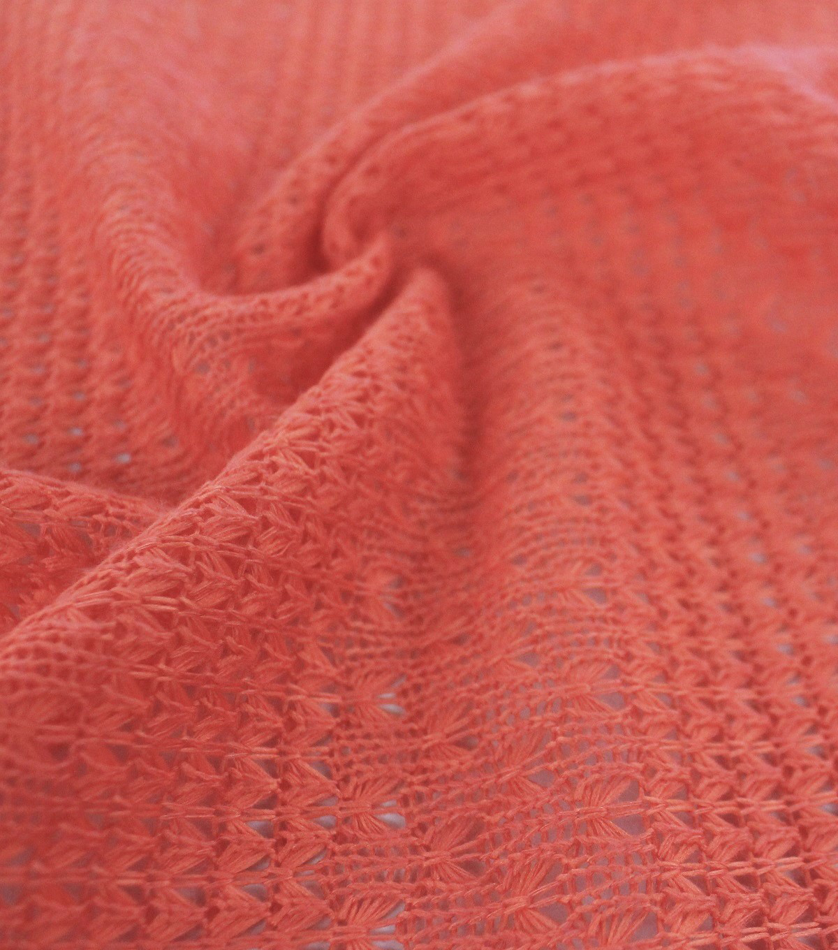 Tropic Time Open Sweater Knit Fabric 59\u0027\u0027-Orange