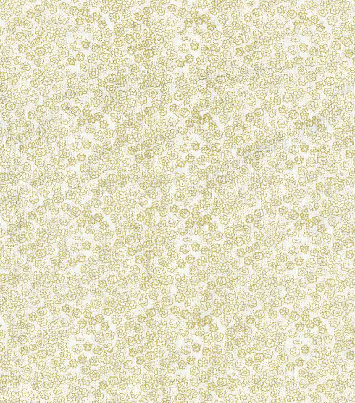 Keepsake Calico Cotton Fabric-Scribble Flowers Gold Metallic