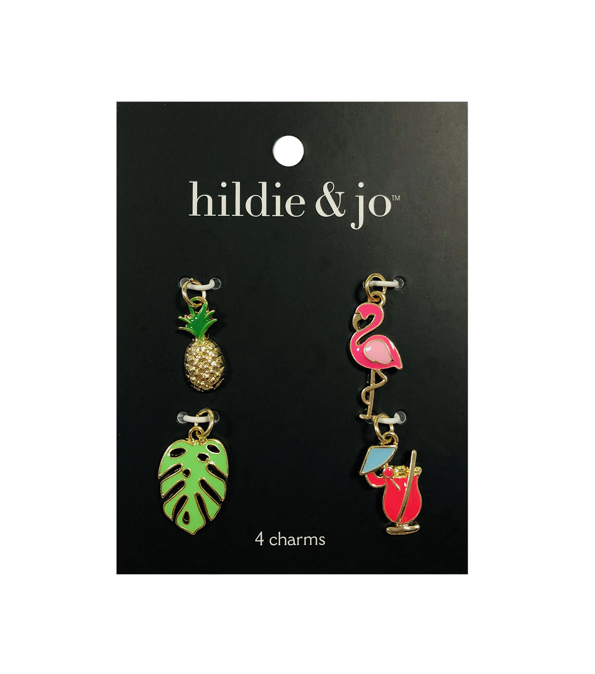 hildie & jo 4 pk Charms-Tropical