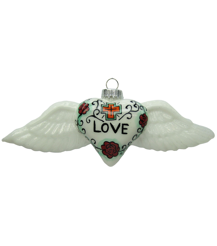 Maker\u0027s Holiday Christmas Love Wings Ornament