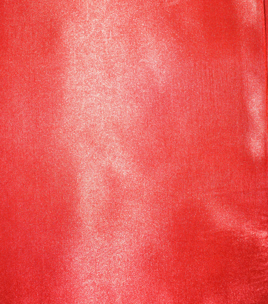 Fast Fashion Shantung Satin Fabric, Red