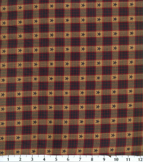 Homespuns Cotton Fabric -Star Dobby Check