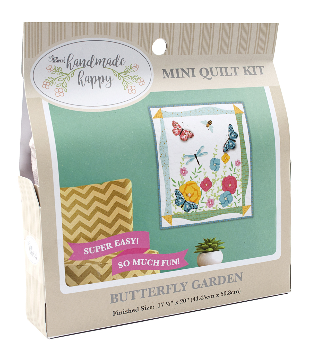Sew Simple Handmade Happy Mini Quilt Kit-Butterfly Garden