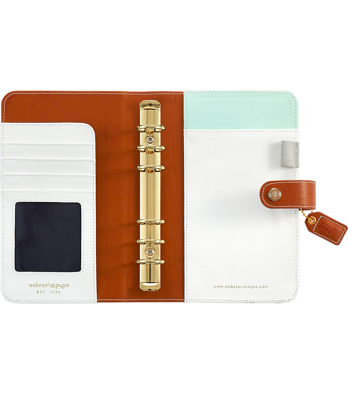 Webster\u0027s Pages Color Crush Personal Planner Binder-Copper Hexagon