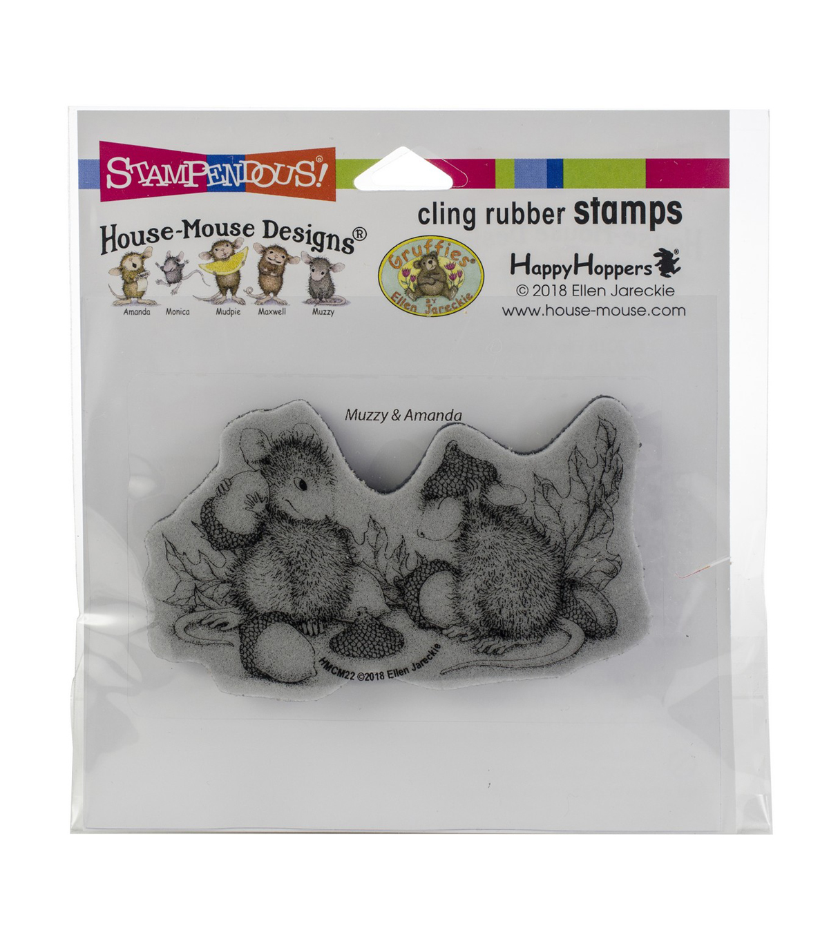 Stampendous House Mouse Cling Stamp-Acorn Cap