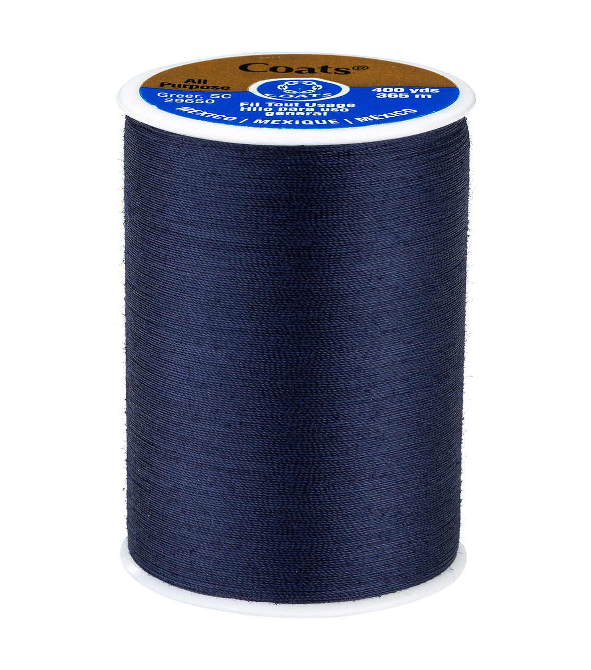Coats & Clark Dual Duty Thread-400yds, Navy