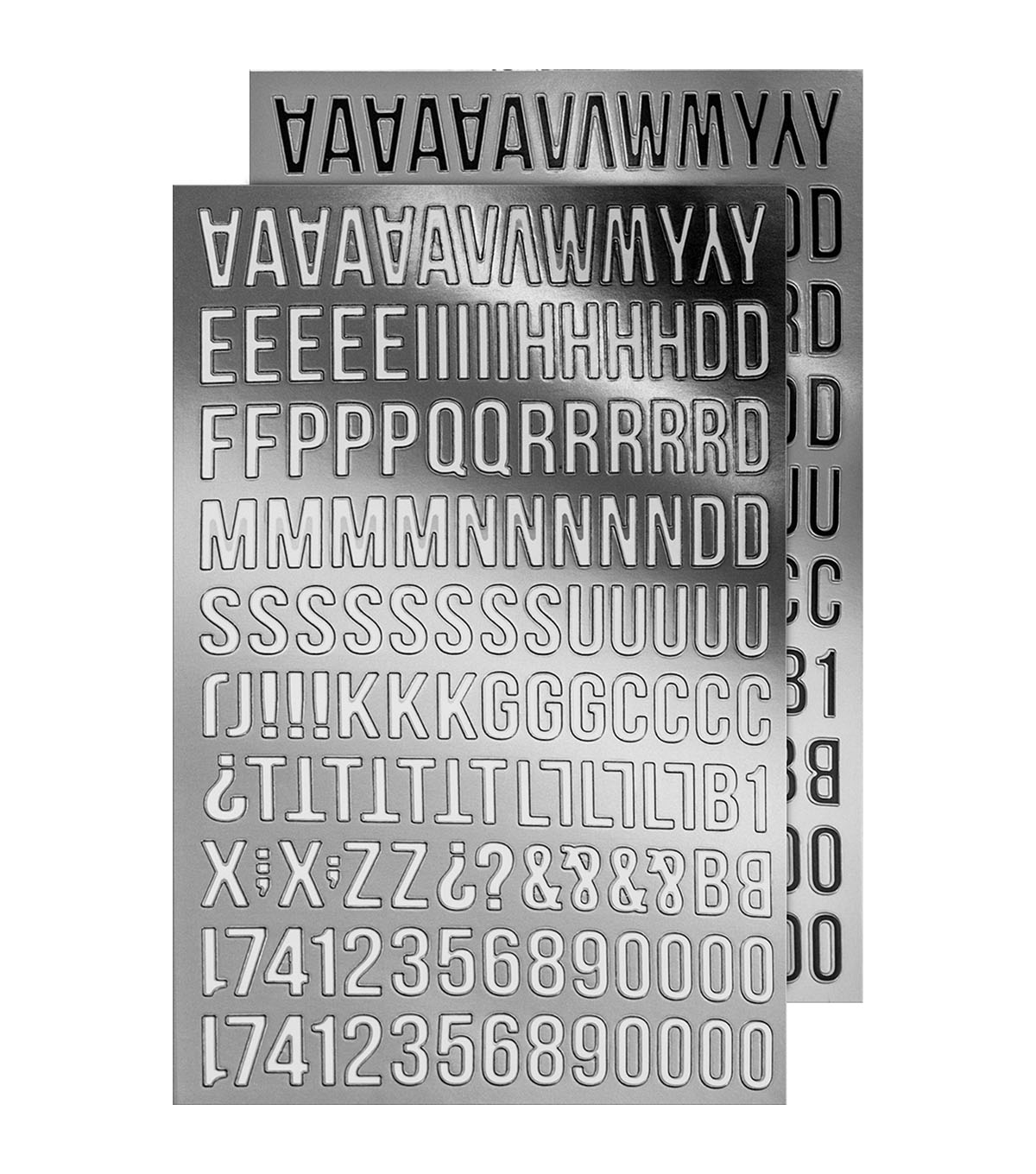 Tim Holtz idea-ology 568 pk Metallic Alpha Stickers-Silver