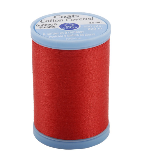 Coats & Clark Cotton Covered Quilting & Piecing Thread 250 Yards , 2160 Atom Red