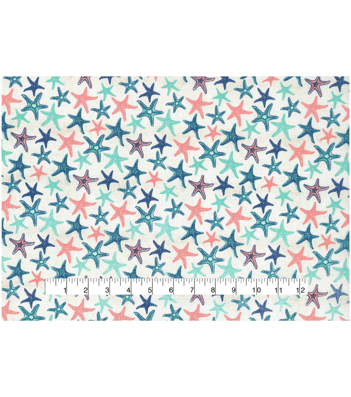 Novelty Cotton Fabric 43\u0027\u0027-Nautical Starfish