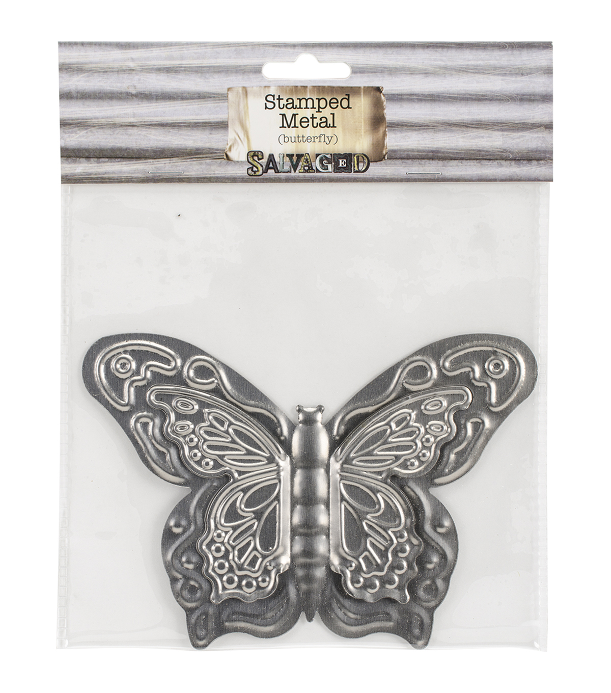 Salvaged Tin Butterfly Metal Sheet