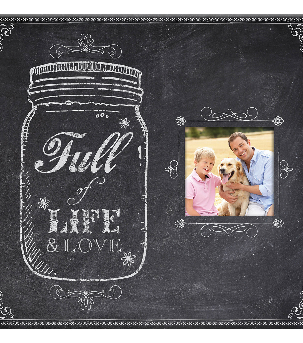 MBI 12\u0027\u0027x12\u0027\u0027 Post Bound Album with Window-Mason Jar & Full of Life