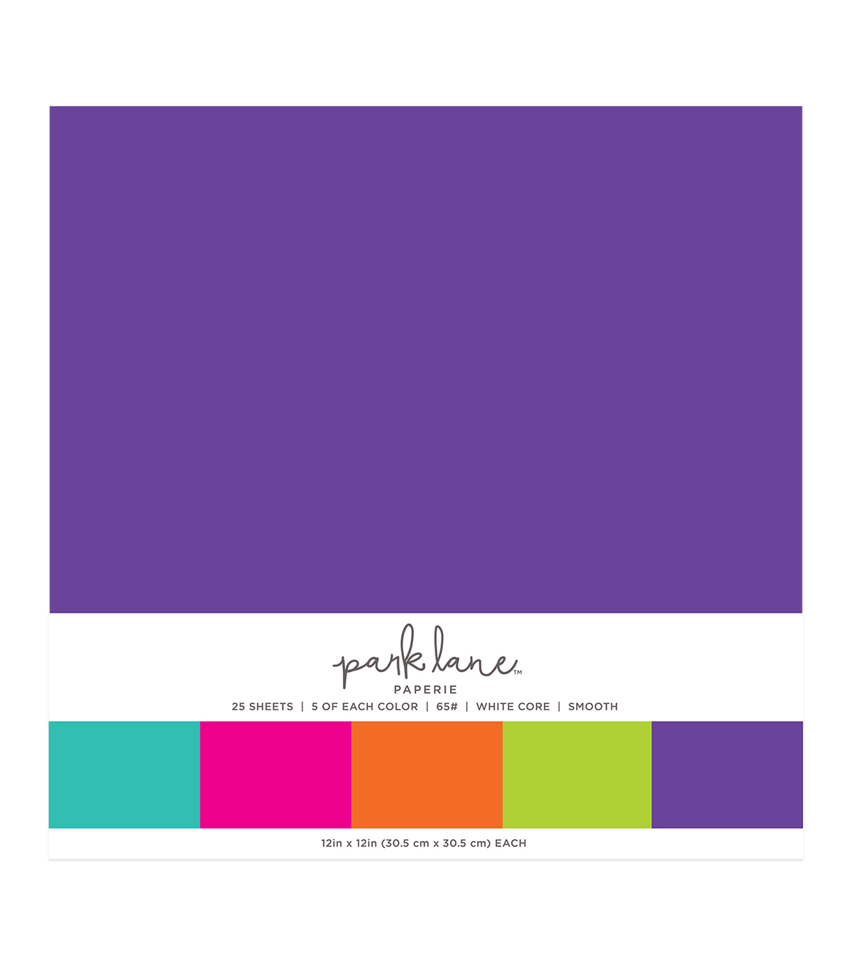 Park Lane 25 pk 12\u0027\u0027x12\u0027\u0027 Value Papers-Brights