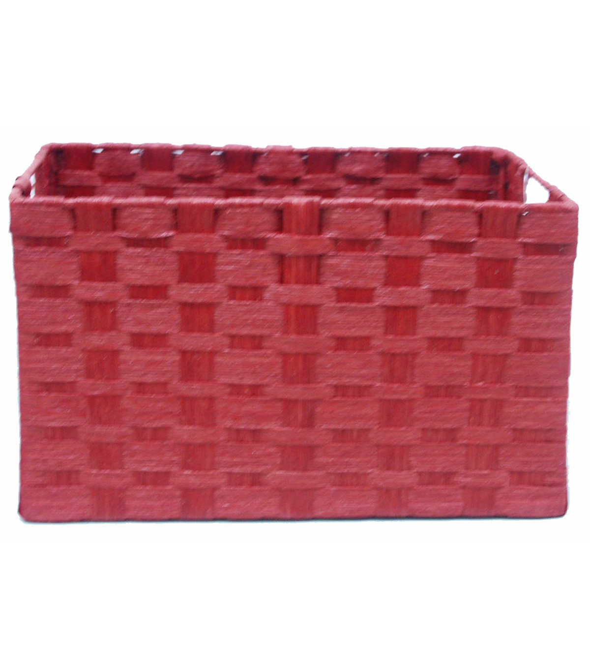 Organizing Essentials Paper Rope Cube Basket-Red