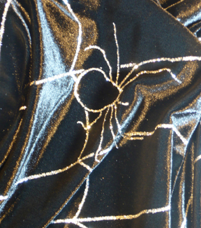 The Witching Hour Halloween Velvet Fabric 58\u0022-Spider Web