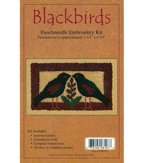 Rachel\u0027s of Greenfield Punch Needle Kit Blackbirds