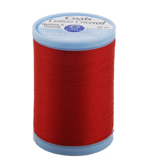 Coats & Clark Cotton Covered Quilting & Piecing Thread 250 Yards , 2250 Red