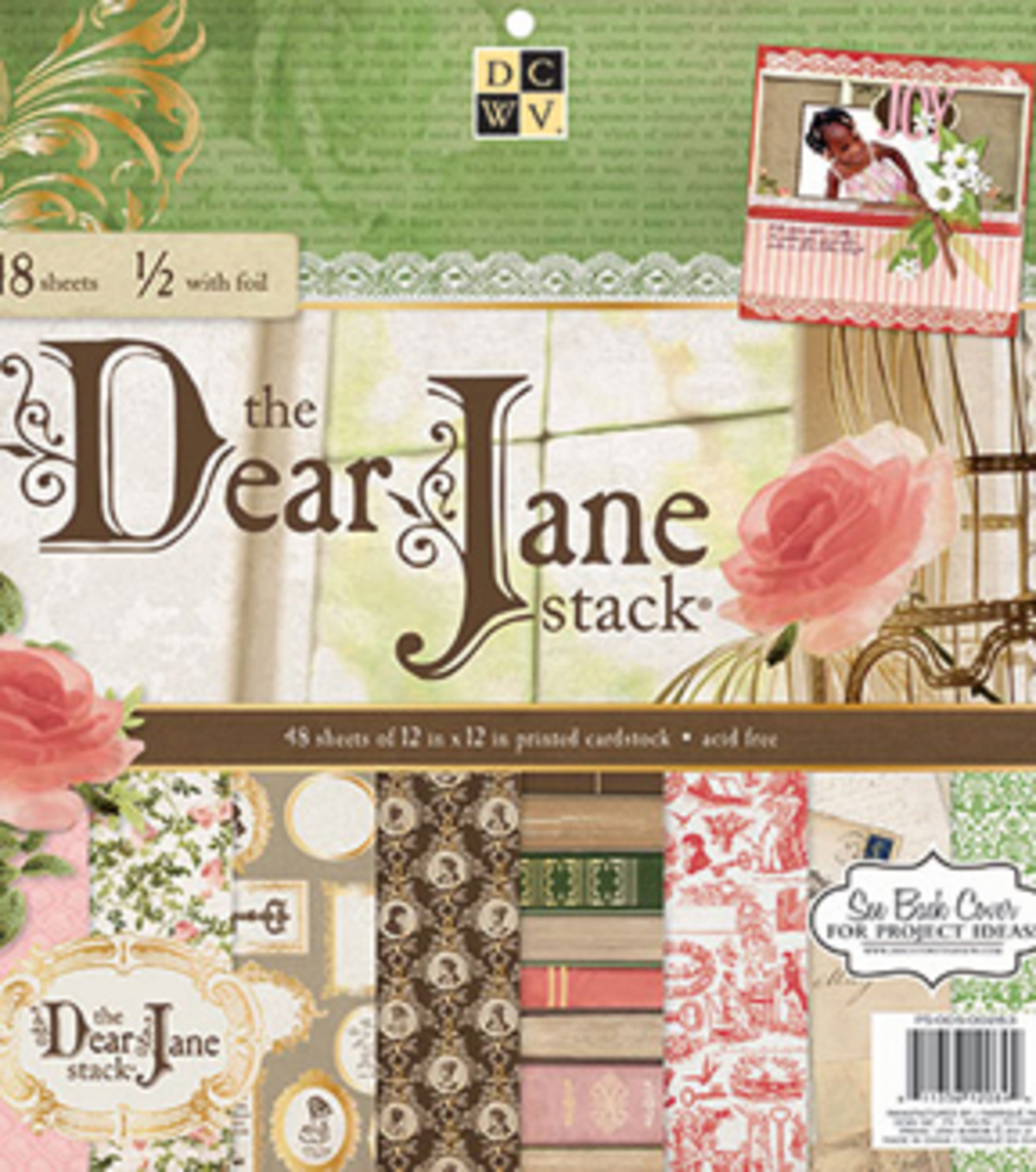 DCWV 12\u0022x12\u0022 Dear Jane Stack