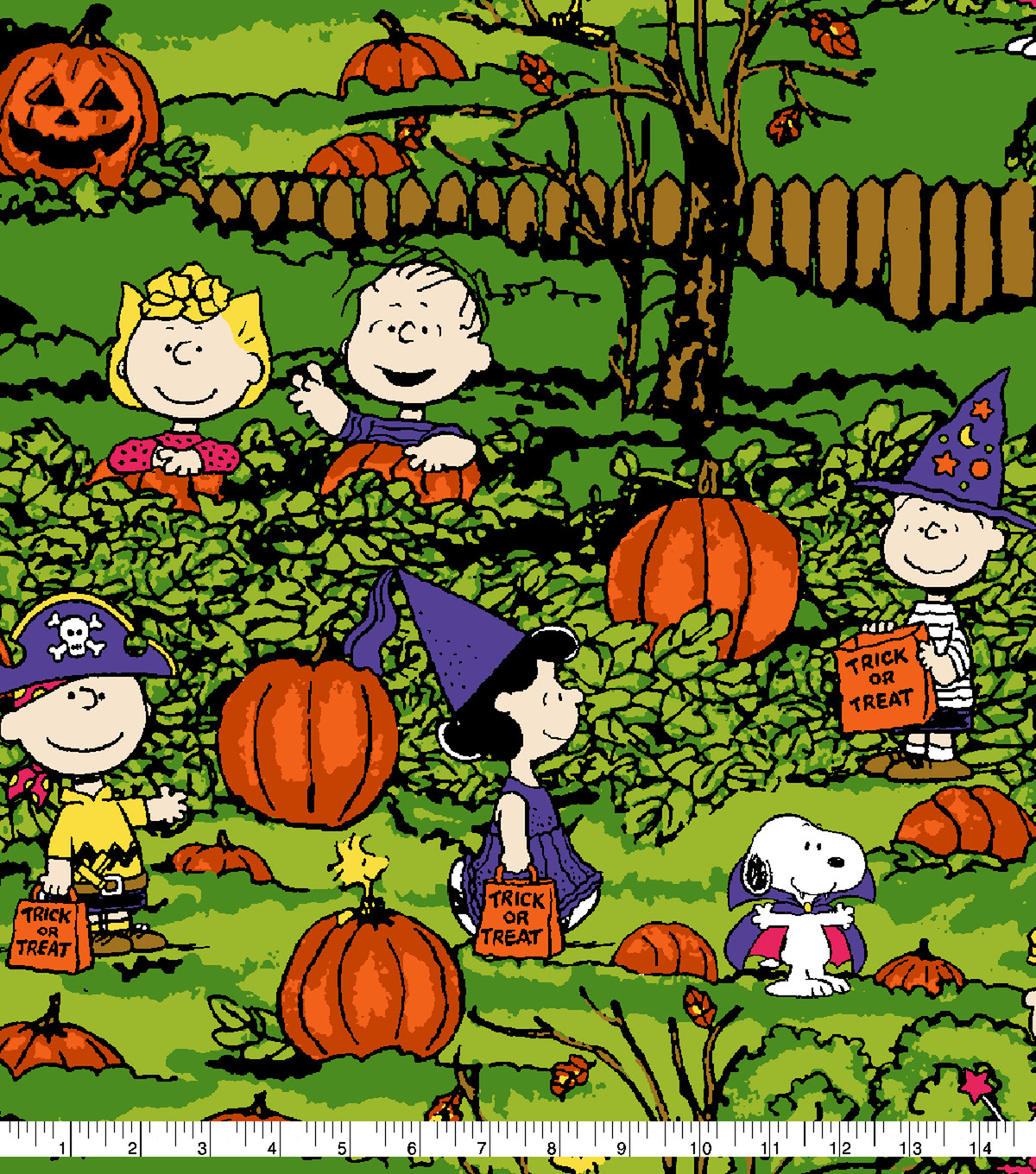 Peanuts Halloween Cotton Fabric-Spooky Night