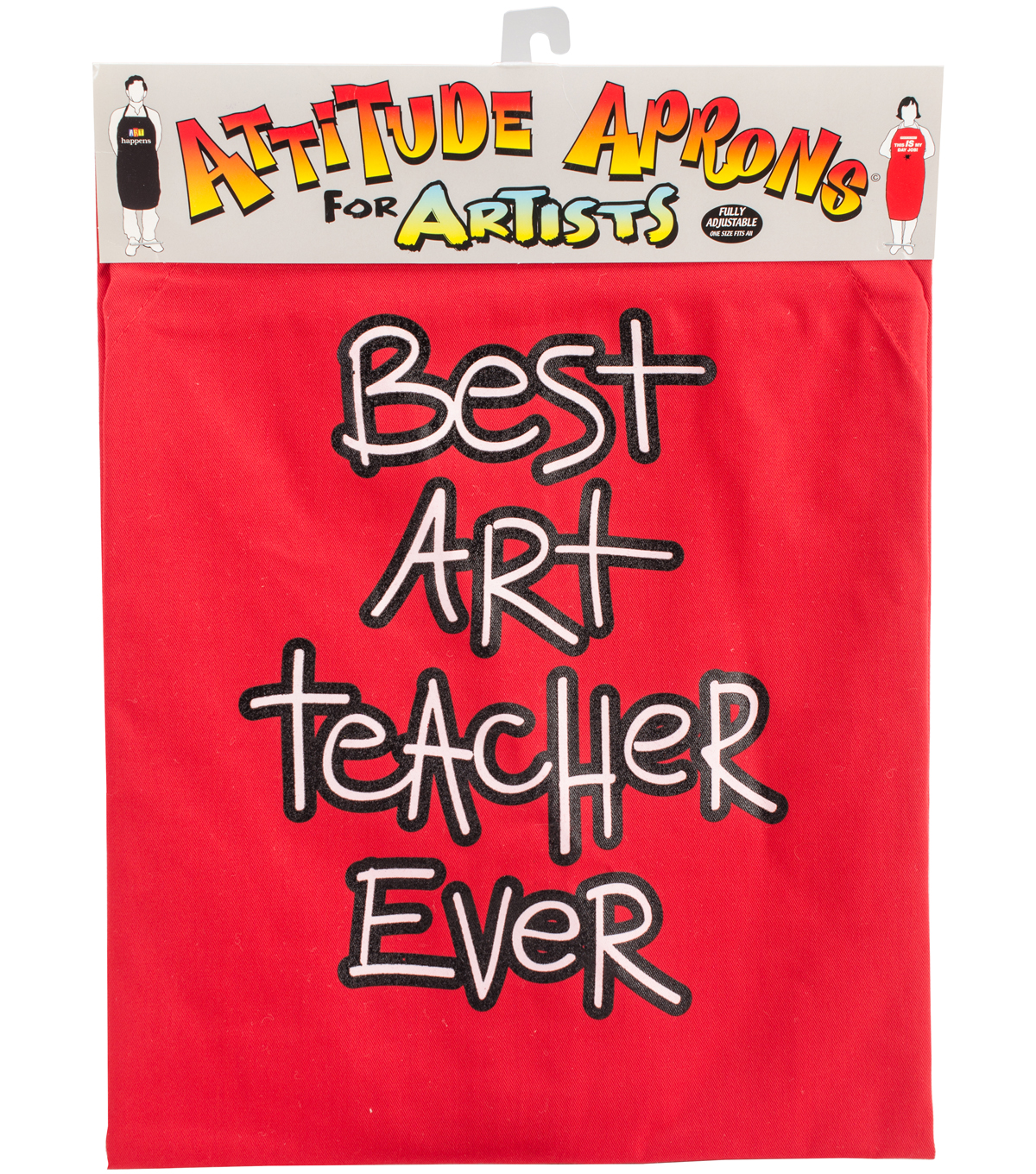 Attitude Artist Apron Red-Art Teacher