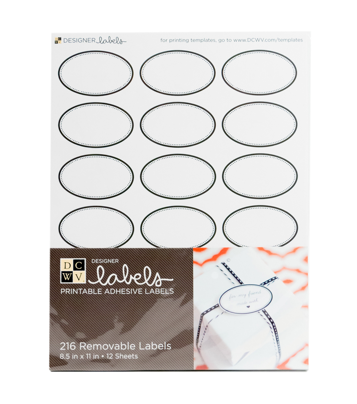 DCWV Oval Labels with Black Border