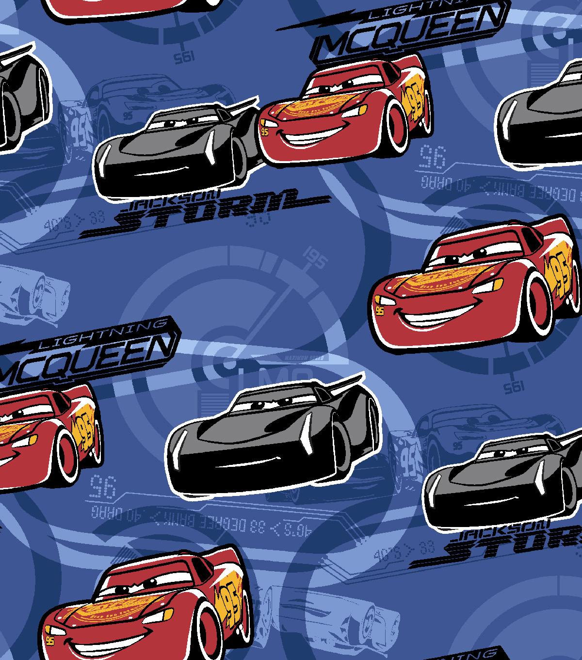 Disney Cars 3 Flannel Fabric 42\u0022-Lightning McQueen
