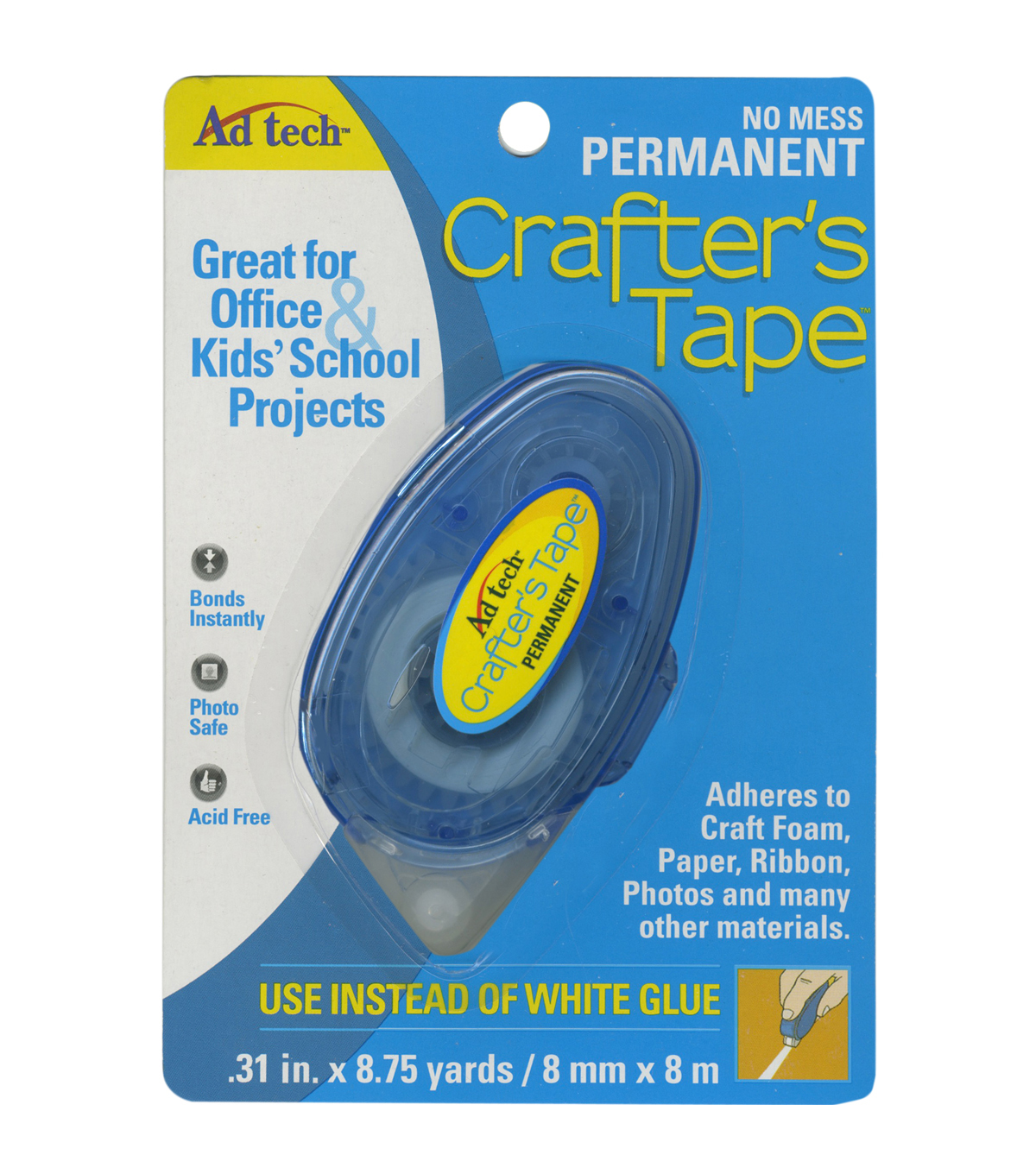 Ad-Tech Crafter\u0027s Tape Permanent Glue Runner