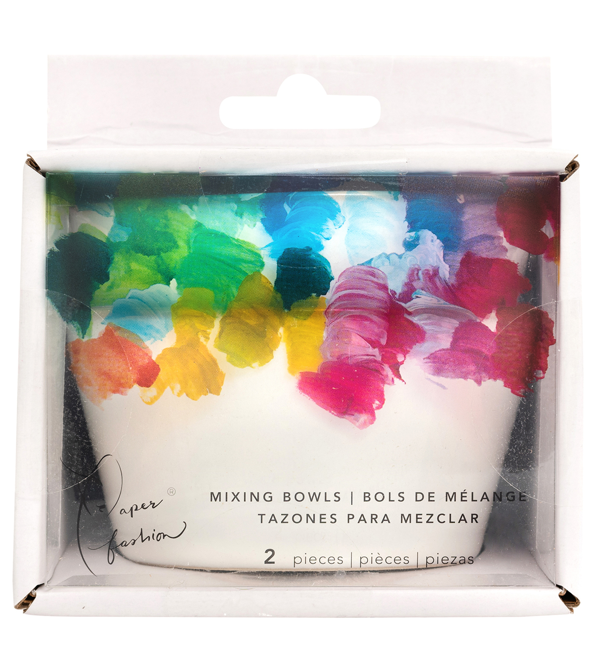 Paper Fashion Paint Mixing Bowls