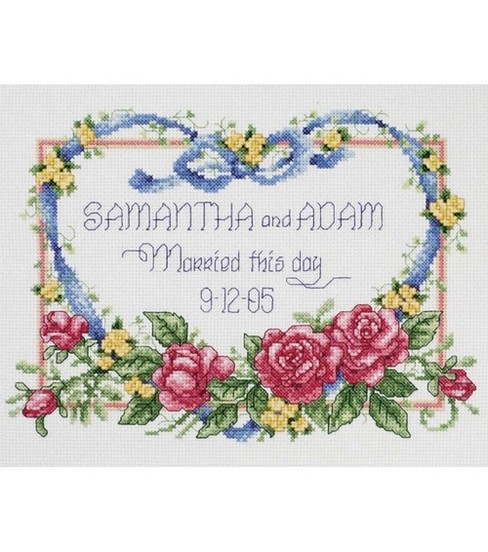 Janlynn Married This Day Counted Cross Stitch Kit-10\u0022x8\u0022