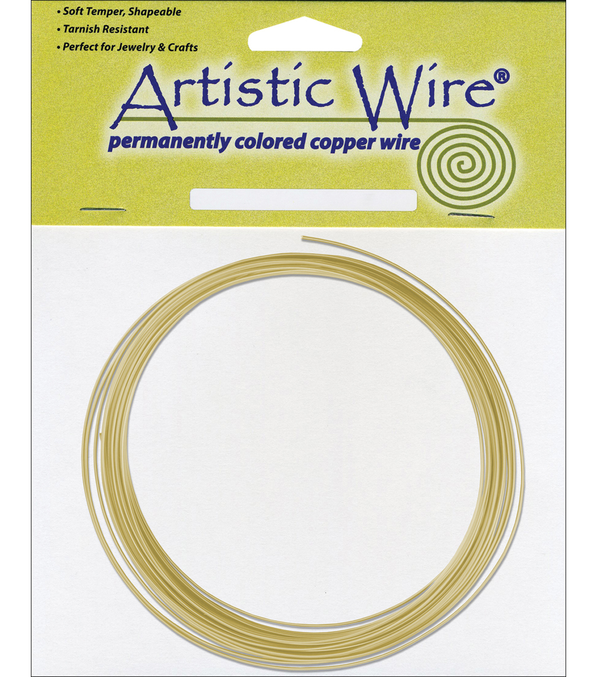 Non-Tarnish Artistic Wire 10 Feet/Pkg-Brass 16 Gauge