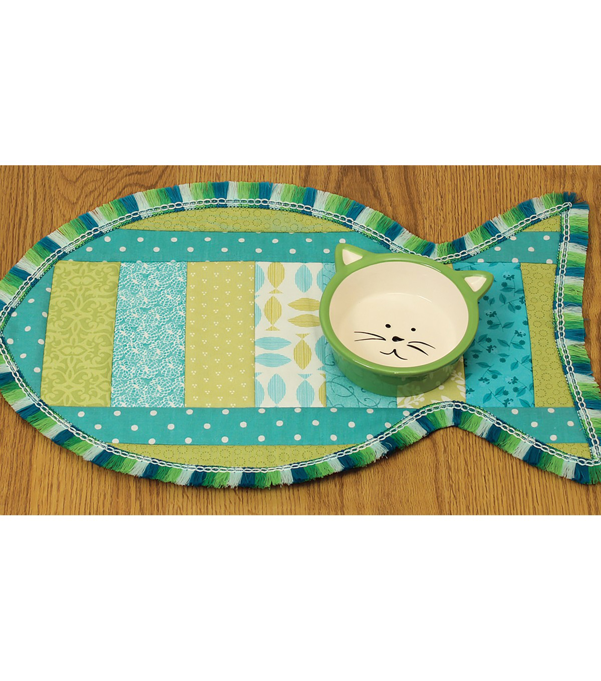 June Tailor Quilt As You Go 11\u0027\u0027x18\u0027\u0027 Pet Placemat-Cat