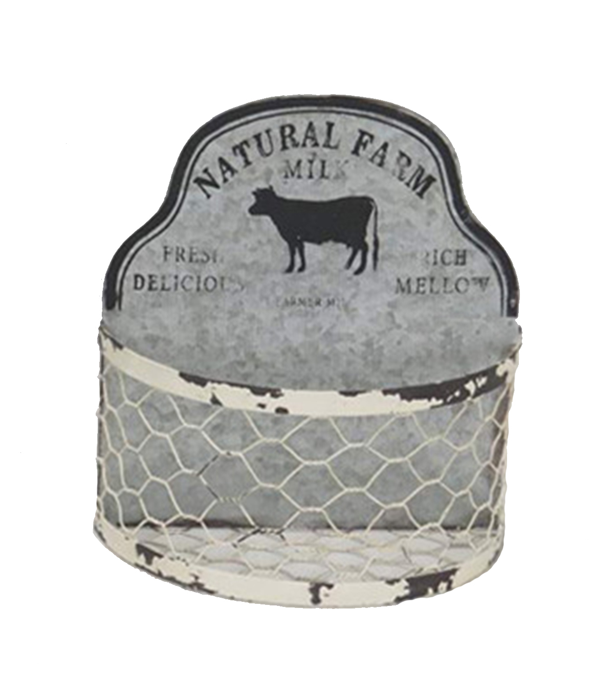 Bloom Room Small Metal Container-Cow & Natural Farm