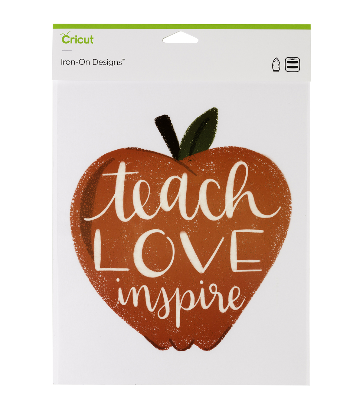 Cricut Large Iron-On Designs-Apple