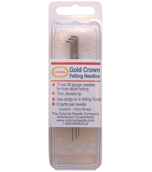 Colonial Gold Crown Felting Needles 3/Pkg-Size 38
